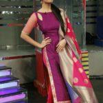 Anasuya Bharadwaj wearing Designer Salwar