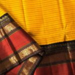Mango Yellow Kanjivaram Saree from Lakshmi.co