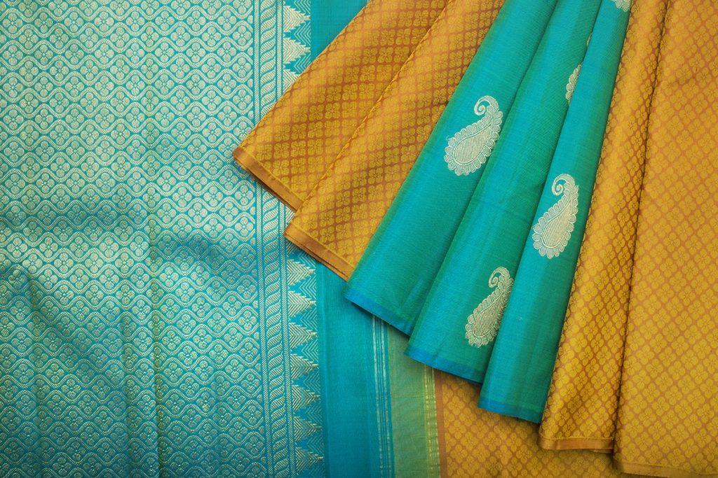 kanakavalli handwoven mustard yellow kanjivaram saree