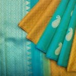 Kanakavalli Handwoven Mustard Yellow Kanchivaram Saree