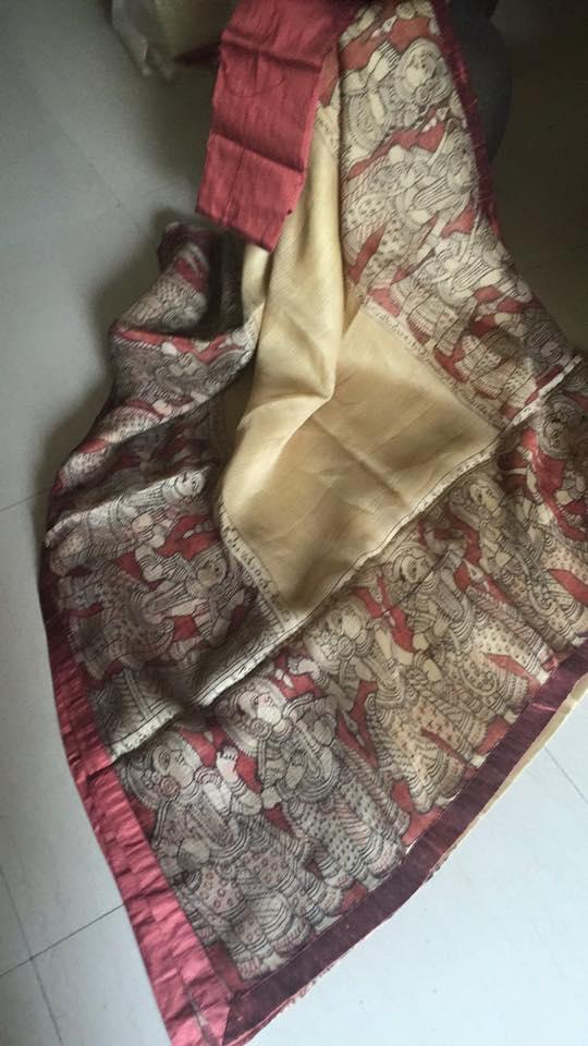 kota silk with kalamkari story border