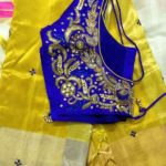 Yellow Kanjivaram Saree by Akshaya Creations