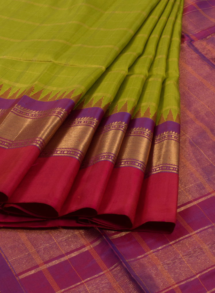 green handwoven gadwal silk sarees from avishya venkie reddy