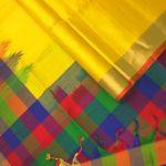 Multicolour Checks Designer Silk Sarees from Co-optex