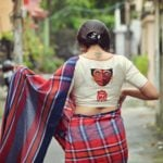 Unusual and Fiery Designer Blouses from Parama