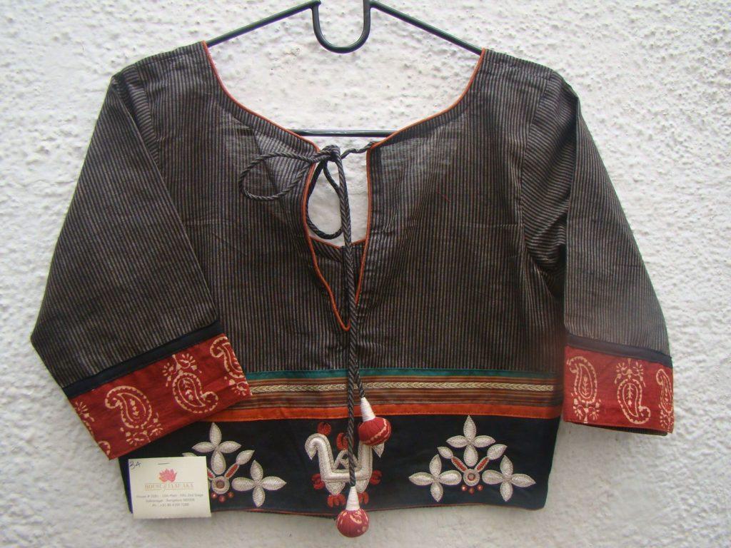 twin malika patch cotton blouse from house of taamara