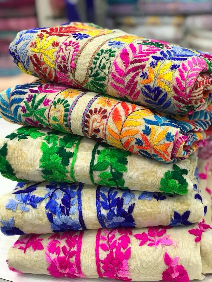 phulkari salwar suit from Lucknow Chikan Exclusif Pvt Ltd