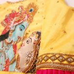 Goddess Lakshmi and Radha Krishna Blouse by YUTI Designer House