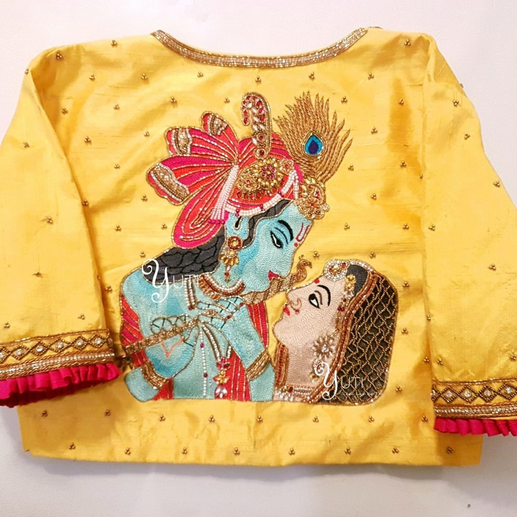 radha krishna deisgner blouse from yuti designer house
