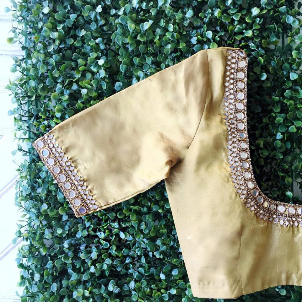 mirror work designer blouse from nyshka design studio