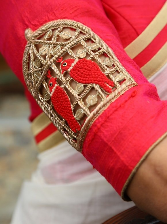 parrot work blouse from laksyah -min