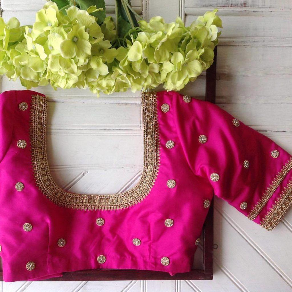 u neck designer blouse from nyshka design studio