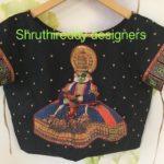 Handpainted Designer Blouse from Shruthi Reddy Designers