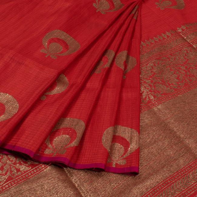 handwoven banarasi kadhwa tussar silk saree from avishya 6