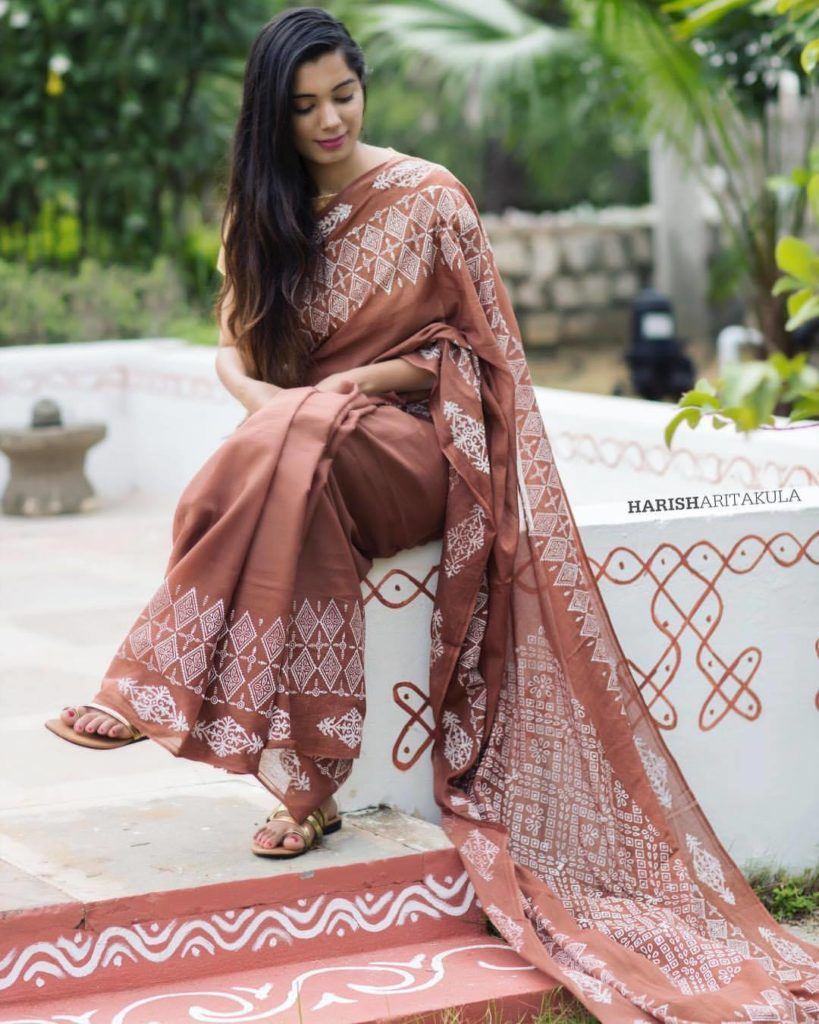 hand printed cotton sarees collection from kolam