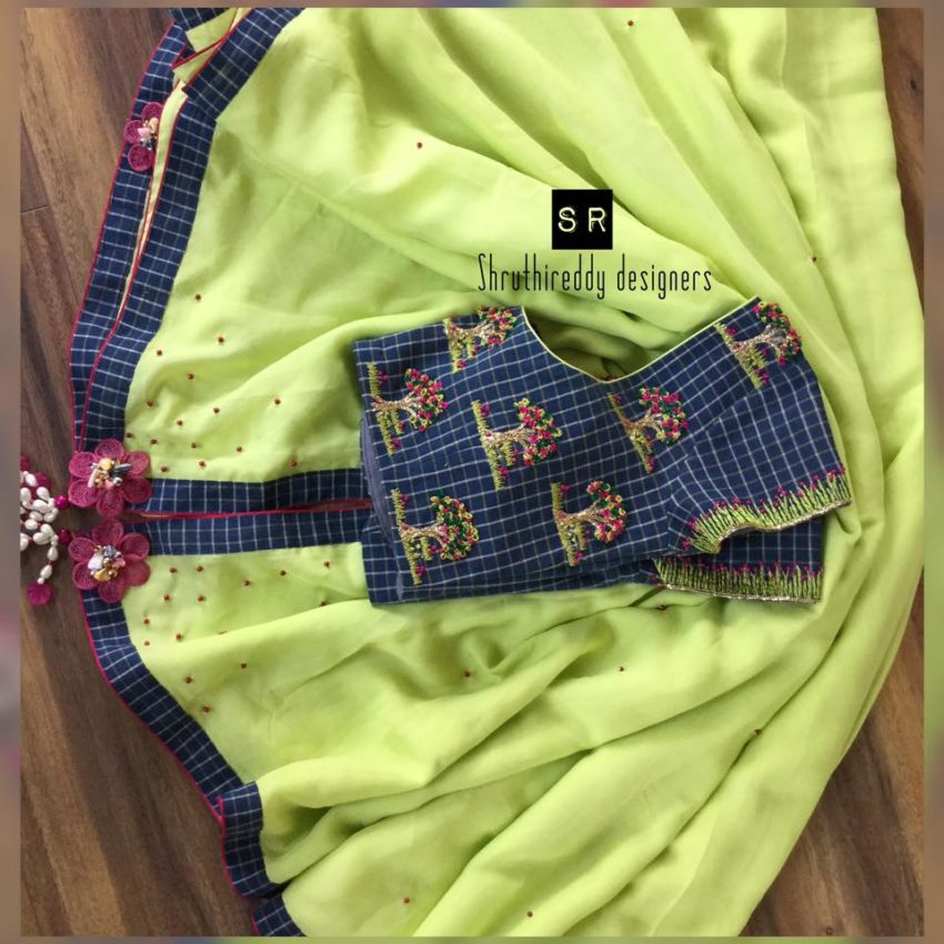 embroidered designer blouse collection from shruthi reddy designers 1