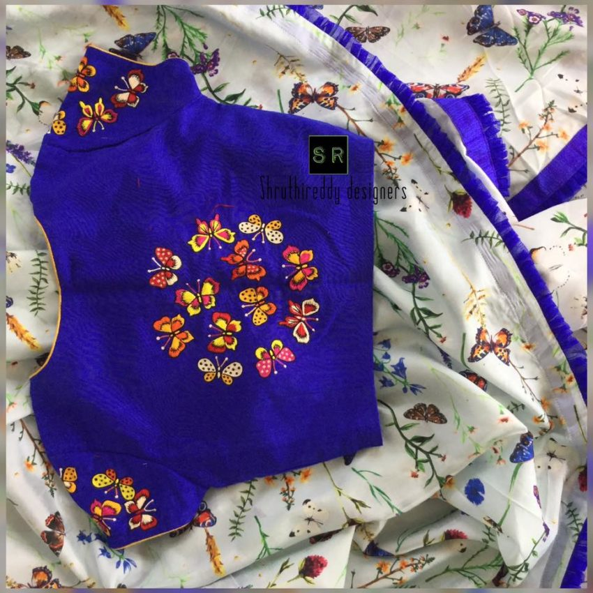 embroidered designer blouse collection from shruthi reddy designers 3