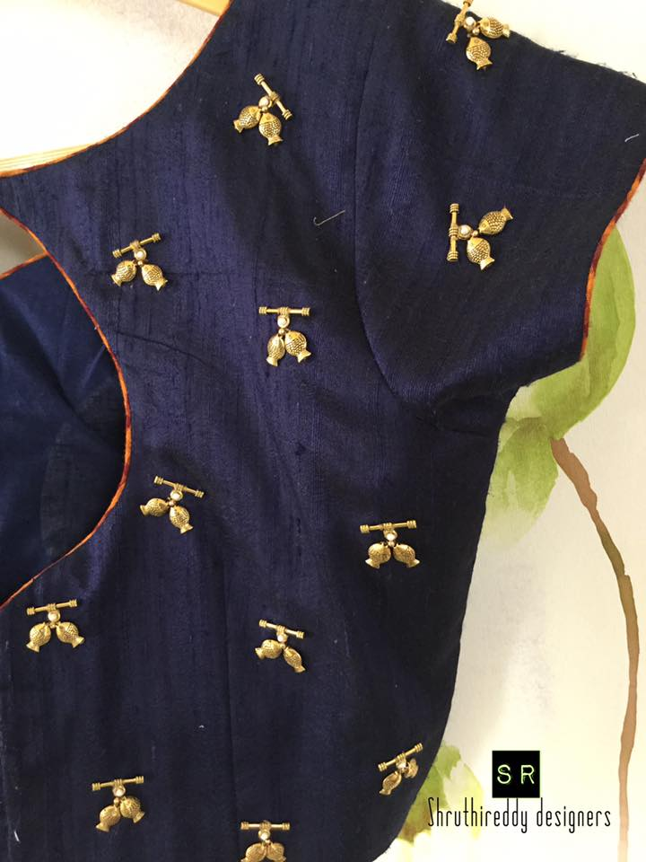 embroidered designer blouse collection from shruthi reddy designers 4