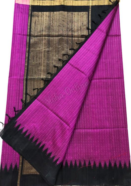 pink khadi silk saree from slokaonline