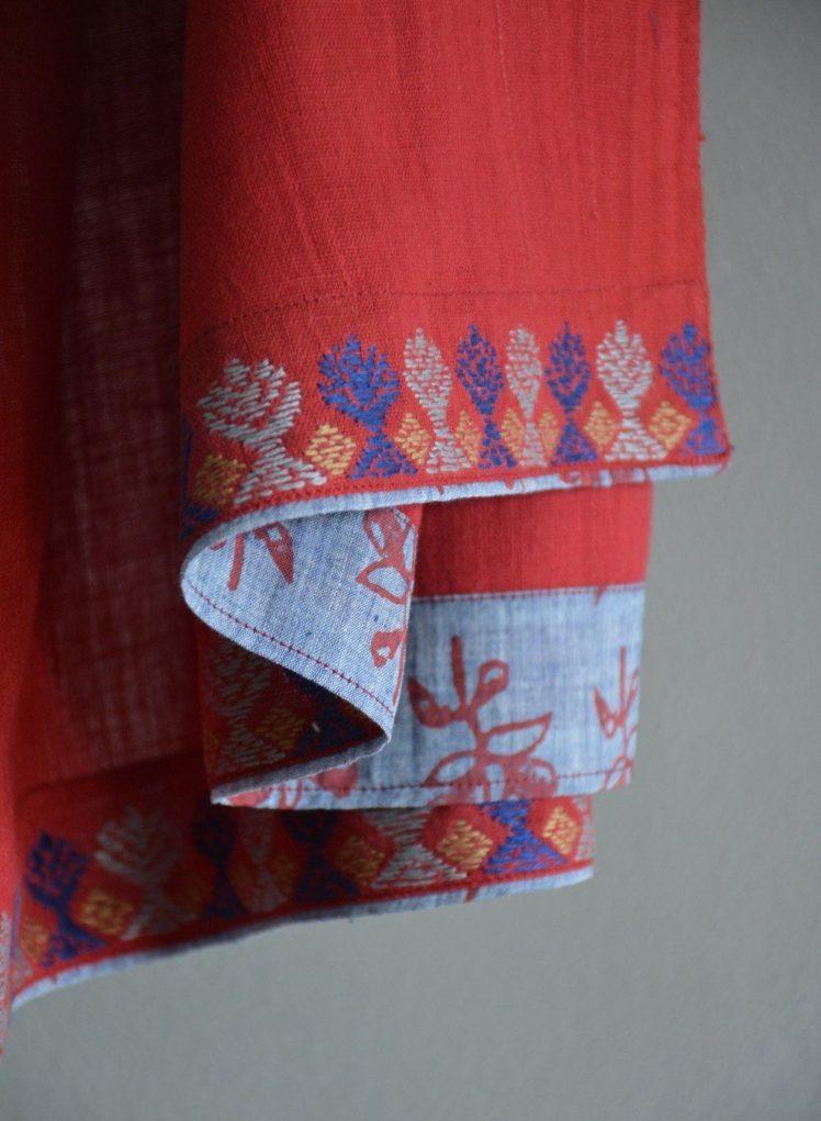 handspun embroidered khadi blouse pieces from metaphor racha