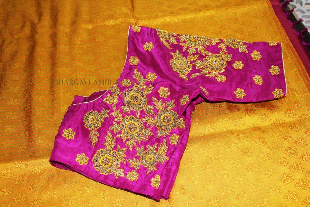 designer zardosi blouse collection from bhargavi amirineni