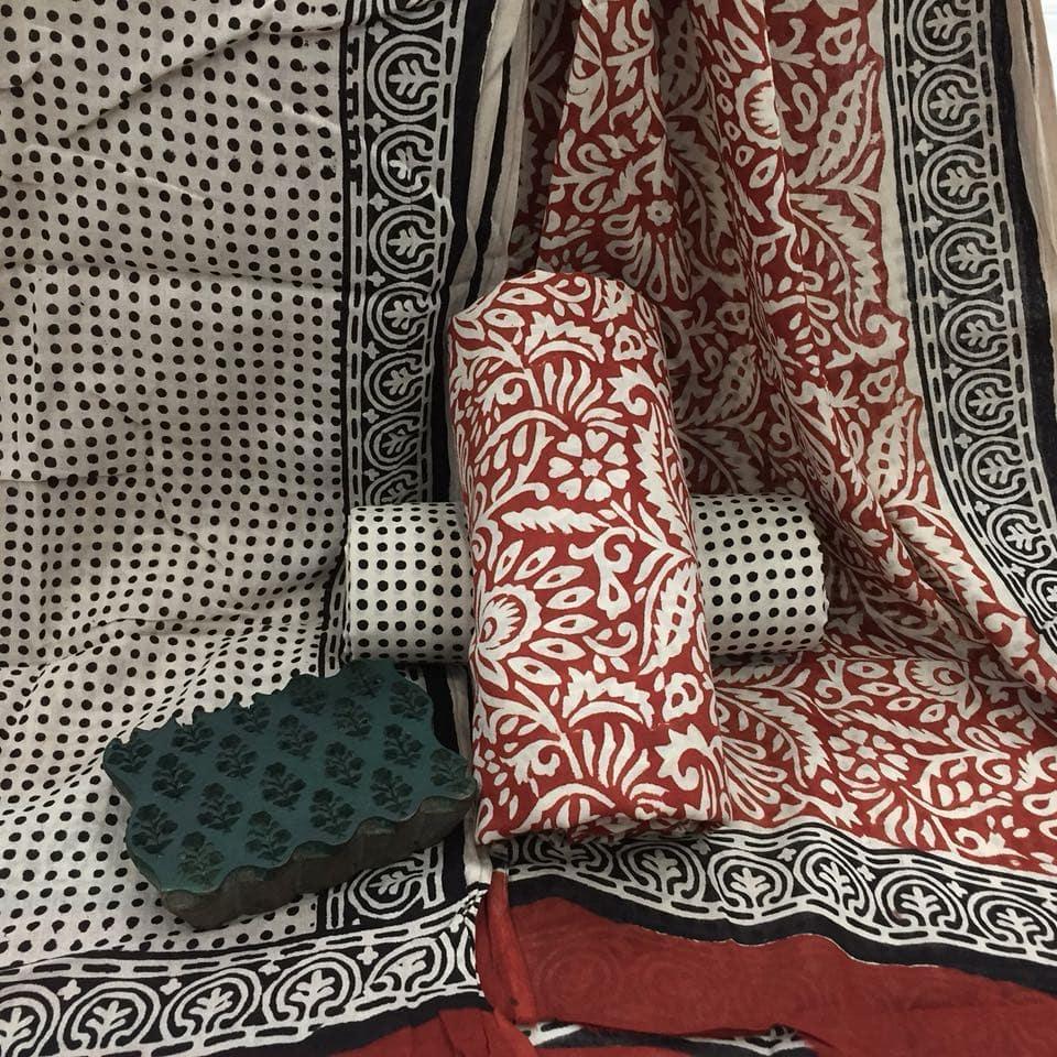 cotton salwar sets with mulmul dupattas from the loom hathkargha