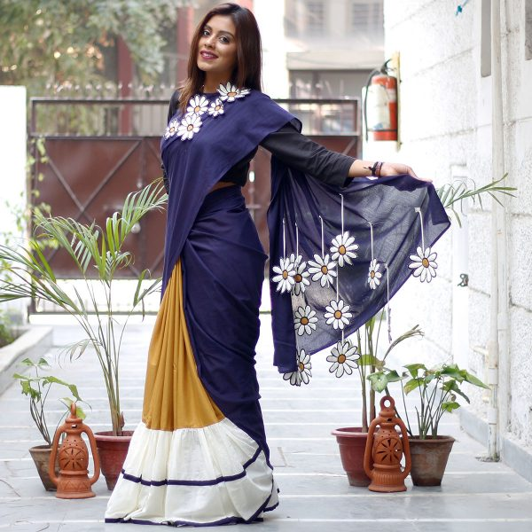 contemporary Cotton Sarees from rustorange
