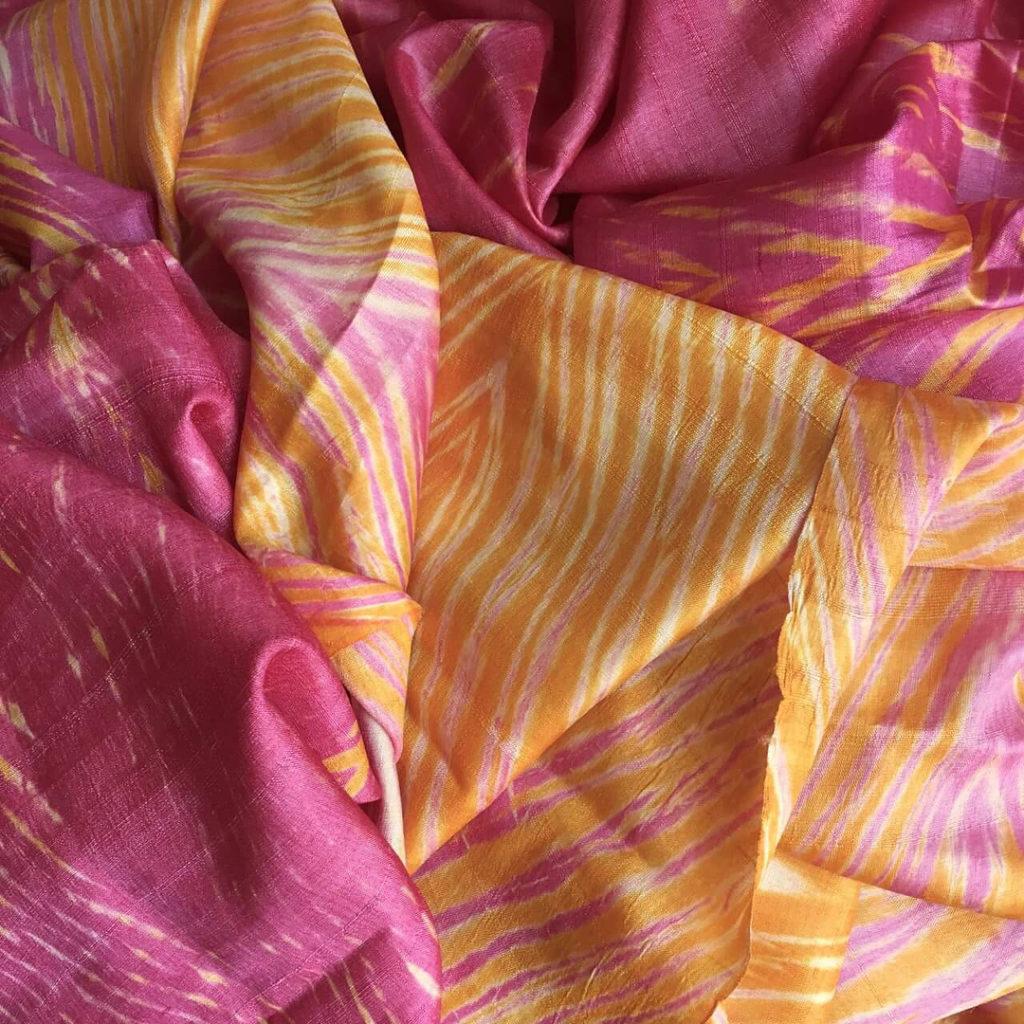 Shibori on Tussar Silk Saree from Omnah by Malavika