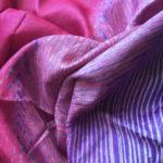 Shibori on Tussar Silk Sarees from Omnah by Malavika