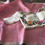 Linen Sarees with Designer Blouses from Teja Sarees