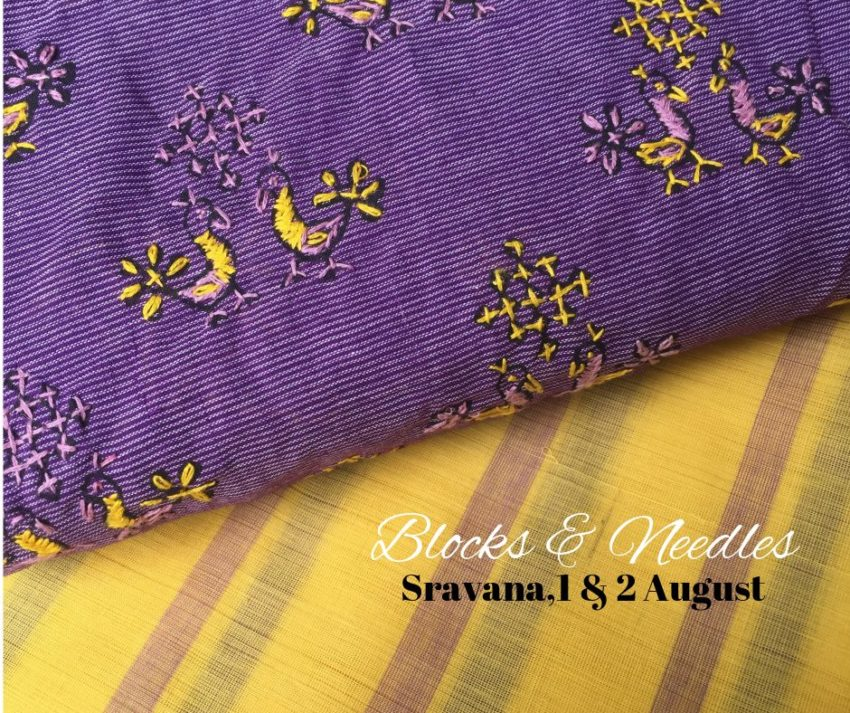 handwoven sarees with mixnmatch blouses from vasavi prints